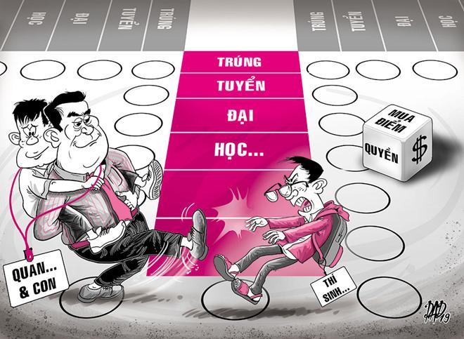 Việt Nam không phải quốc gia duy nhất xảy ra tình trạng chạy trường chạy điểm cho con. Có phải cha mẹ giàu ở đâu cũng giống nhau?