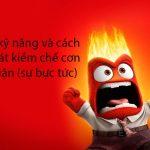 Những kỹ năng và cách kiểm soát kiềm chế cơn nóng giận (sự bực tức)