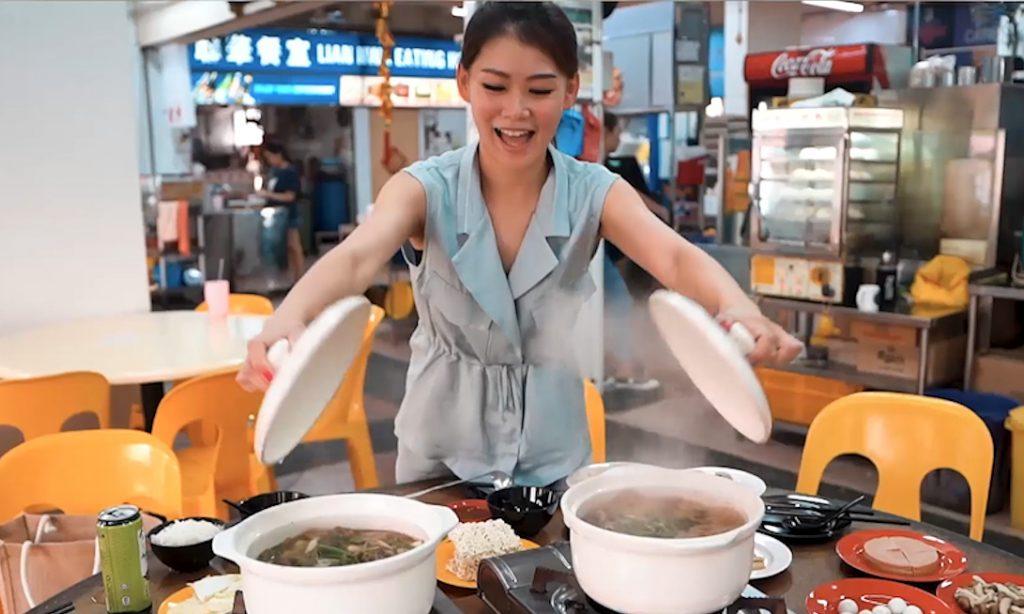 Ý tưởng bán lẩu gà của cô gái Singapore trên mạng