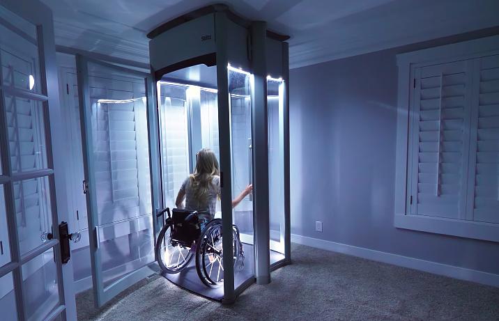 Ý tưởng chàng trai tự làm thang máy cho Vợ