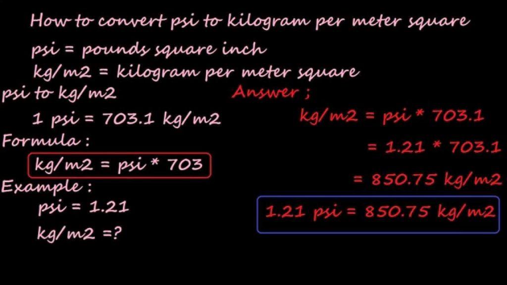 Cách quy đổi đơn vị từ Kg sang mét